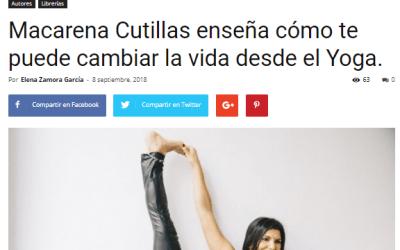 Macarena Cutillas y su libro «GuíaBurros: Yoga con calor» en Casa de Letras