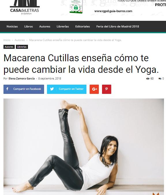 """Macarena Cutillas y su libro """"GuíaBurros: Yoga con calor"""" en Casa de Letras"""