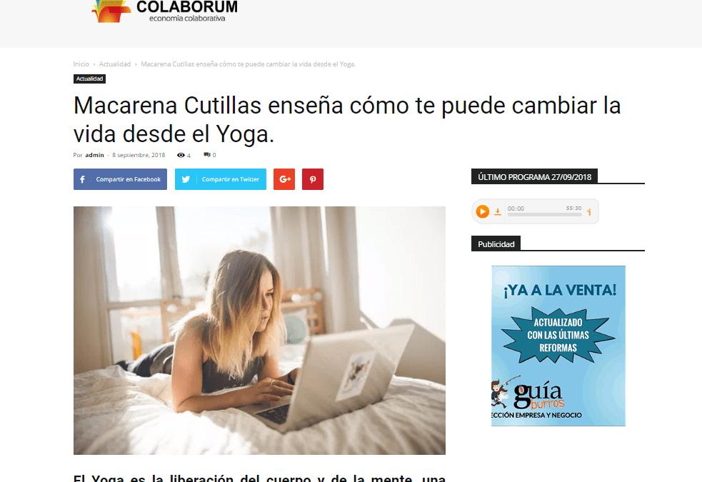 Colaborum, medio experto en economía colaborativa, habla sobre el «GuíaBurros: Yoga con Calor»