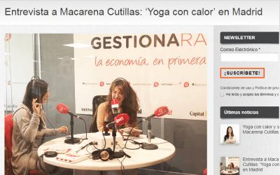 Entrevista a Macarena Cutillas: 'Yoga con calor' en Gestiona Radio Madrid